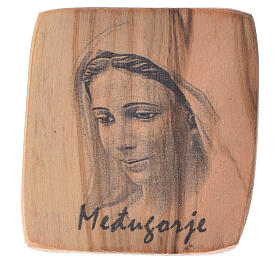 Magnes drewno oliwne Medziugorie 5x4 cm s1