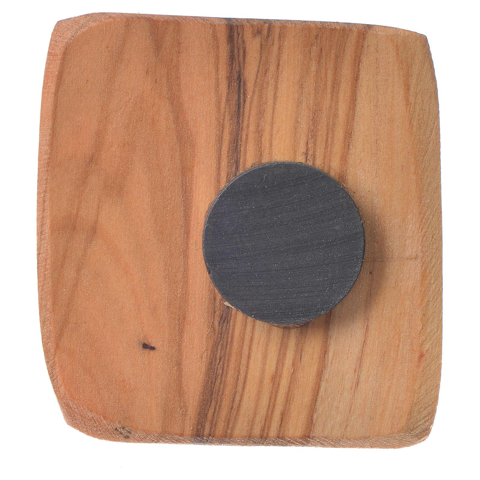 Magnet in Medjugorje olive wood 5x4cm 4