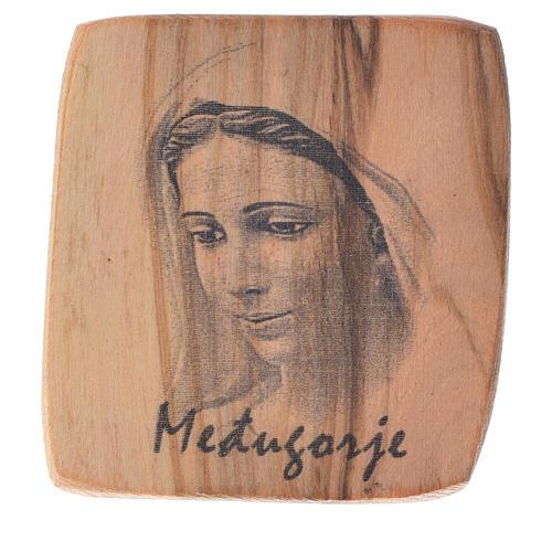 Magnet in Medjugorje olive wood 5x4cm 1
