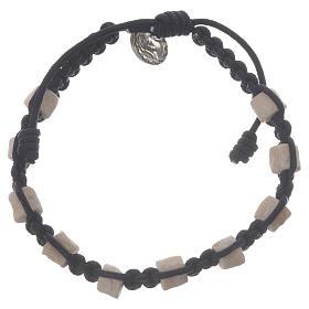 Bracelets, dizainiers: Bracelet dizainier Medjugorje bleu grains en pierre