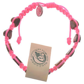 Pulsera corazón olivo Medjugorje rosa s1