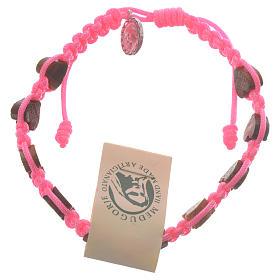 Bracciale cuore ulivo Medjugorje rosa s1