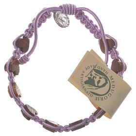 Bracelets, dizainiers: Bracelet coeur olivier Medjugorje violet