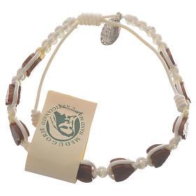 Bracelets, dizainiers: Bracelet coeur olivier Medjugorje blanc