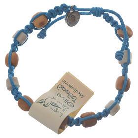Bracelets, dizainiers: Bracelet olivier Tau Medjugorje bleu