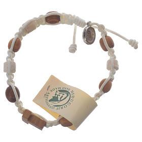 Bracelets, dizainiers: Bracelet olivier Tau Medjugorje blanc
