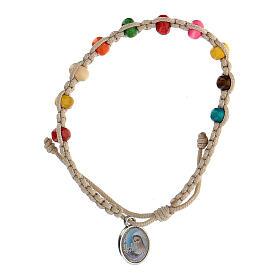 Bracelet dizainier enfant Medjugorje blanc s2