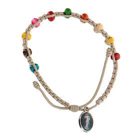 Bracelet dizainier enfant Medjugorje blanc s3