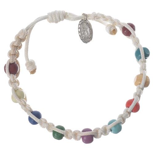 Bracelet dizainier enfant Medjugorje blanc 1