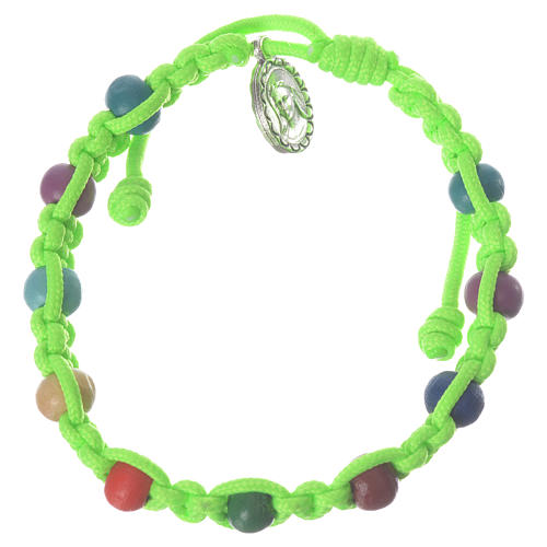 Pulsera decena niño Medjugorje verde 1