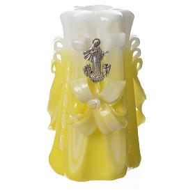 Bougie Medjugorje jaune 16x8 cm s1