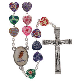 Rosaries and rosary holders: Medjugorje rosary in fimo with hearts