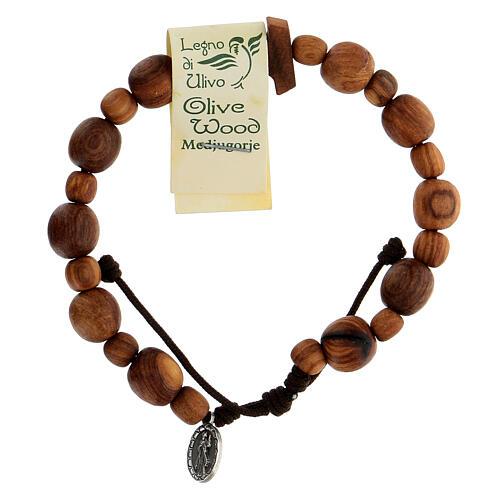 Medjugorje bracelet in olive wood with Tau cross 2