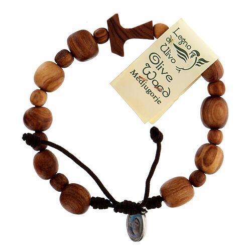 Bracelet en olivier de Medjugorje Tau 1