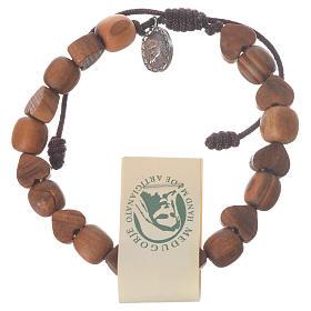 Bracelet olivier Medjugorje grains coeur s1
