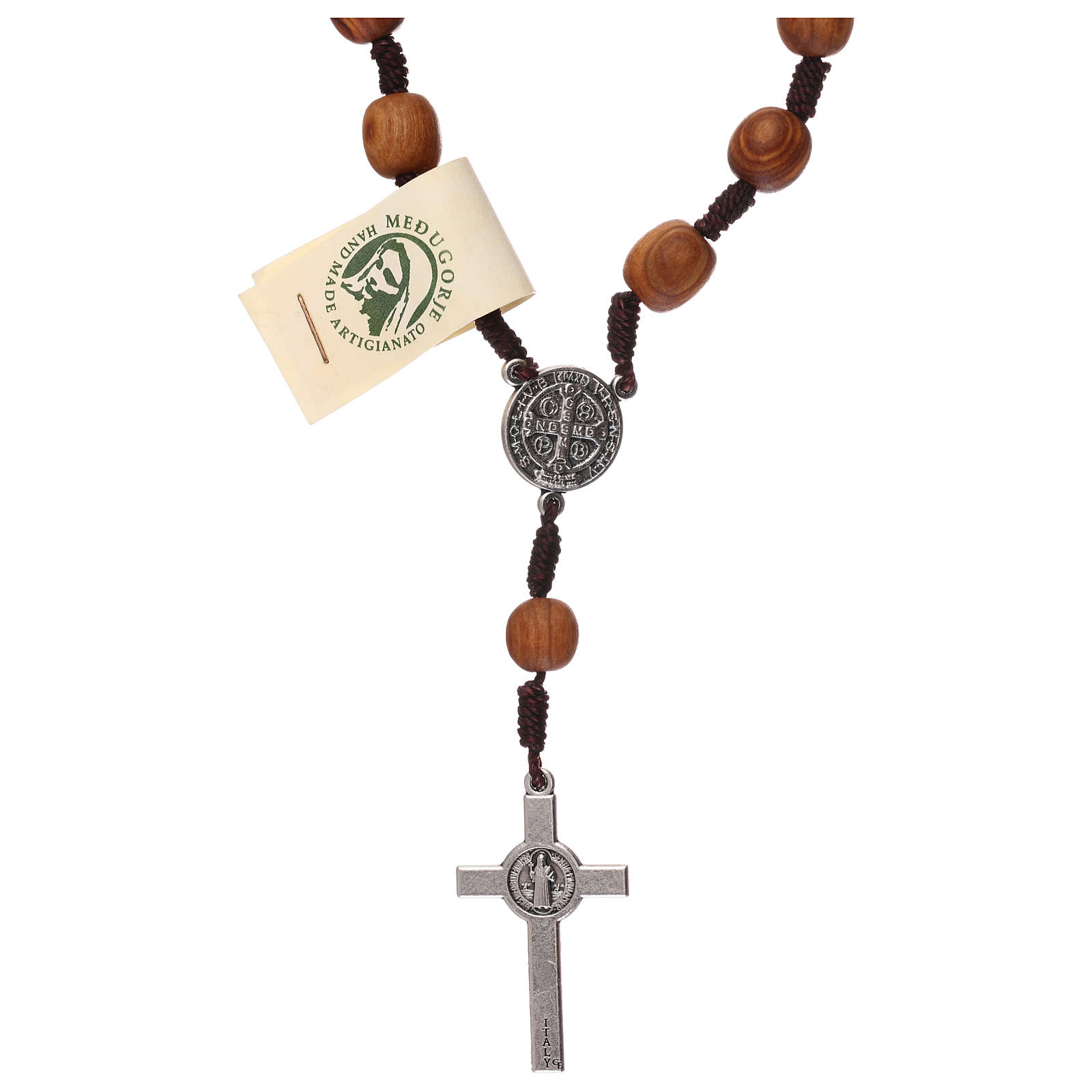 Medjugorje single decade olive wood rosary 4