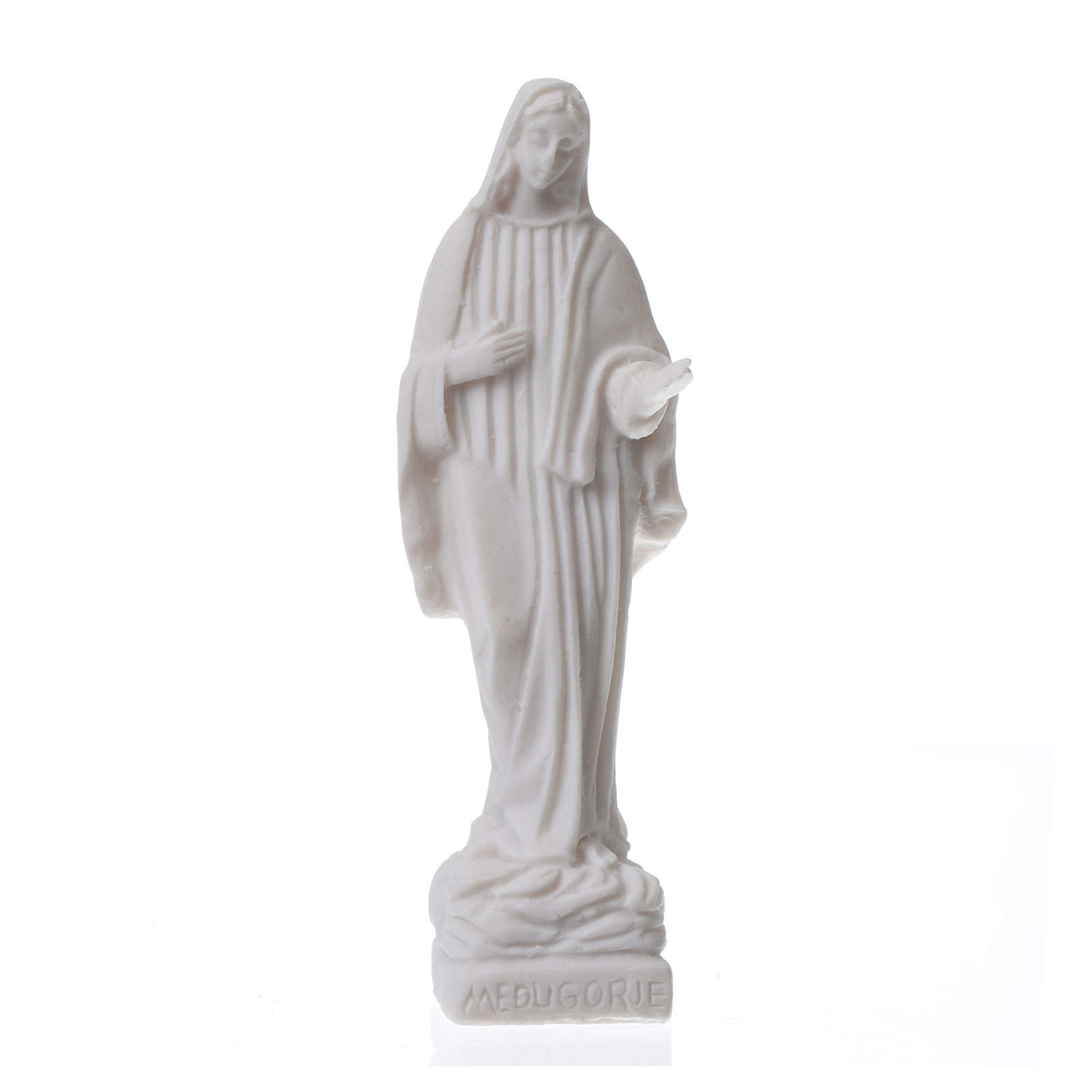 Statuetta Madonna Medjugorje h. 9 cm 4