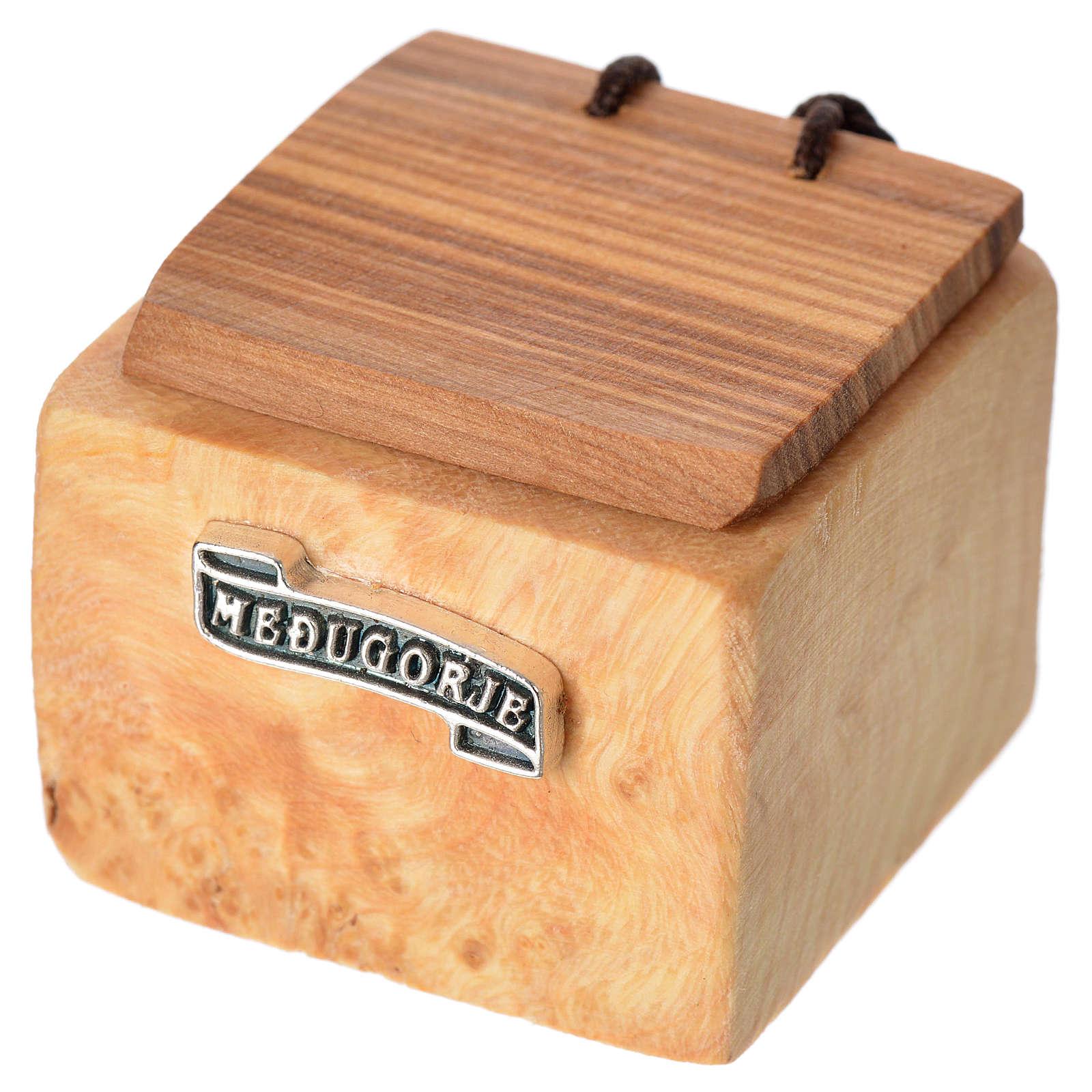 Portarosario Medjugorje madera olivo 4