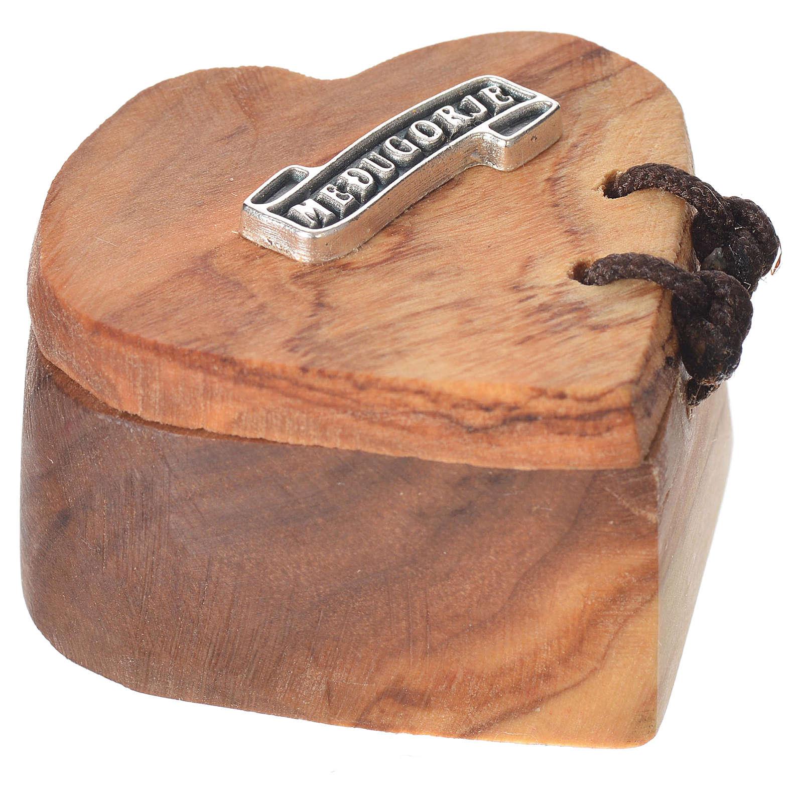 Portarosario Medjugorje olivo corazón 4