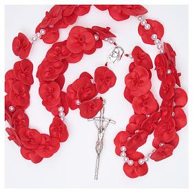 Terço de parede Medjugorje rosas vermelhas s4