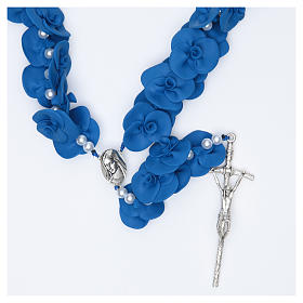 Rosaries and rosary holders: Headboard Medjugorje rosary with blue roses