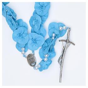 Terço de parede Medjugorje rosas azuis s2