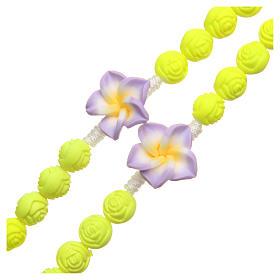 Rosario Medjugorje roselline giallo fluo s3