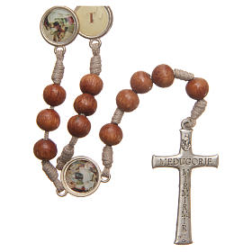 Way of the Cross Medjugorje rosary in olive wood s2