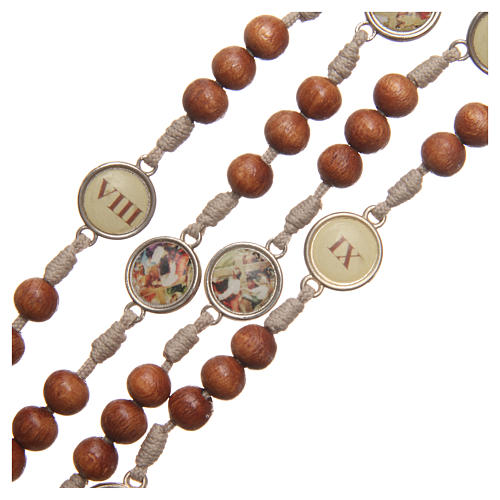Way of the Cross Medjugorje rosary in olive wood 3