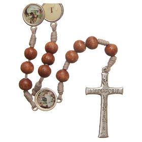 Rosario Vía Crucis madera de olivo Medjugorje s2