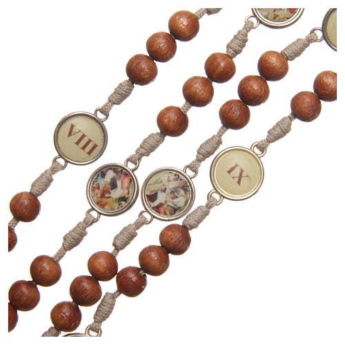 Różaniec Droga Krzyżowa z drewna oliwnego Medziugorie 3