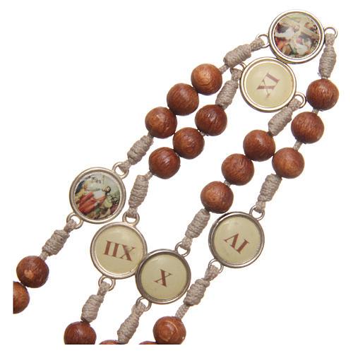 Różaniec Droga Krzyżowa z drewna oliwnego Medziugorie 4