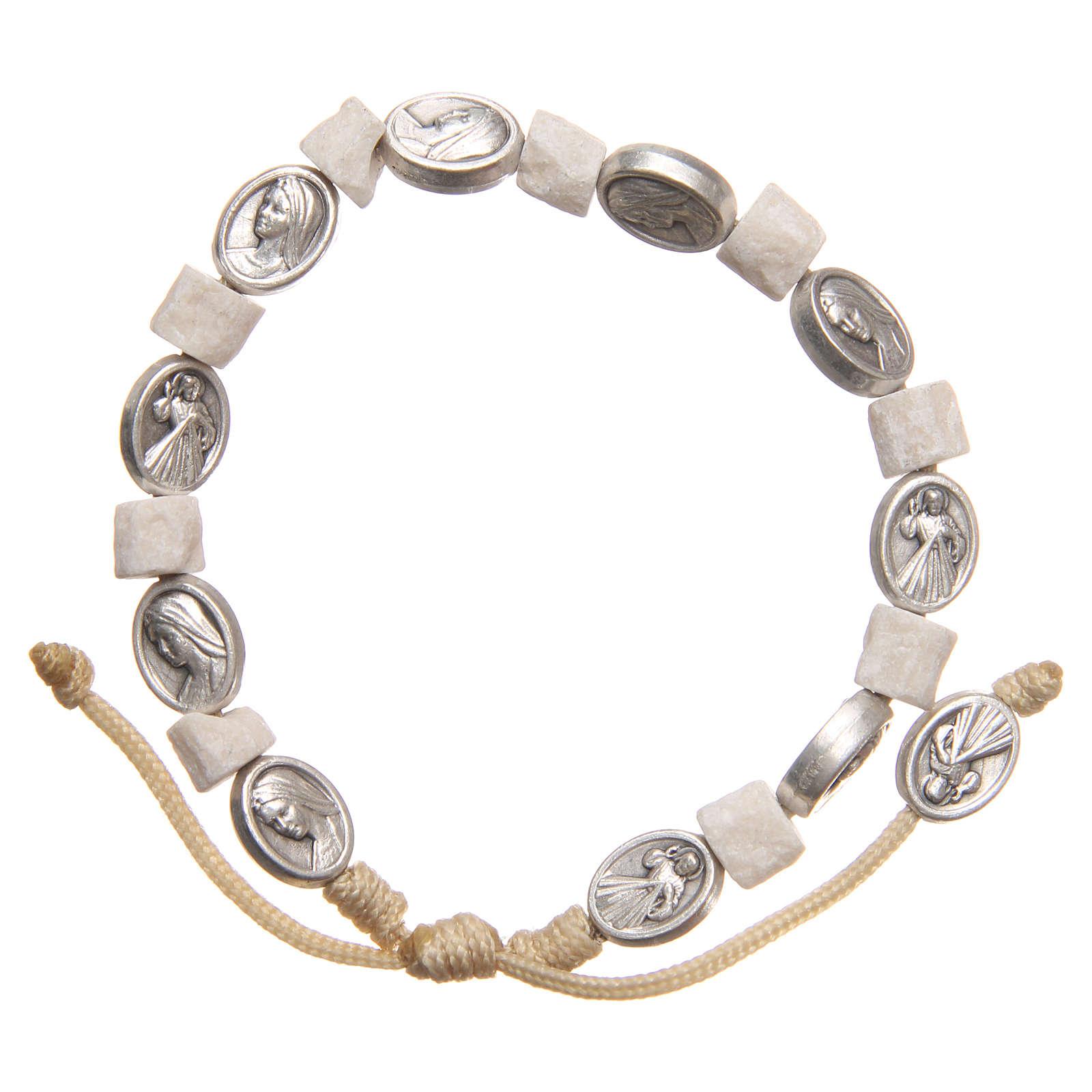 Bracelet in white Medjugorje stone 4