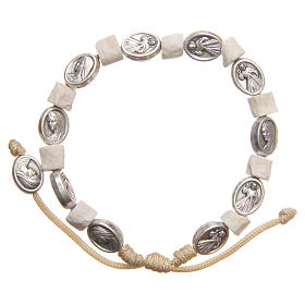Bracelet in white Medjugorje stone s2