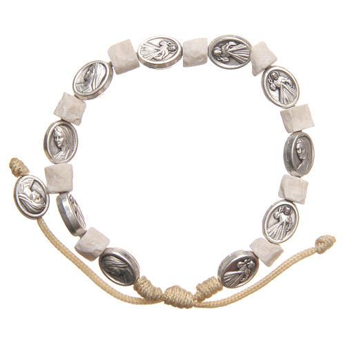 Bracelet in white Medjugorje stone 2
