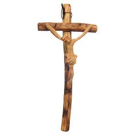 Crucifijo para colgar madera olivo Medjugorje s1