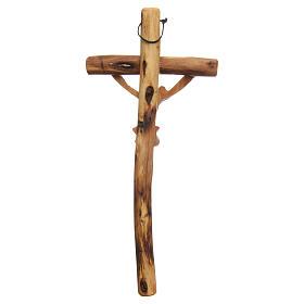 Crucifijo para colgar madera olivo Medjugorje s2