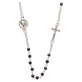Rosarios y Porta Rosarios Medjugorje: Collar acero cristal negro 3 mm Medjugorje