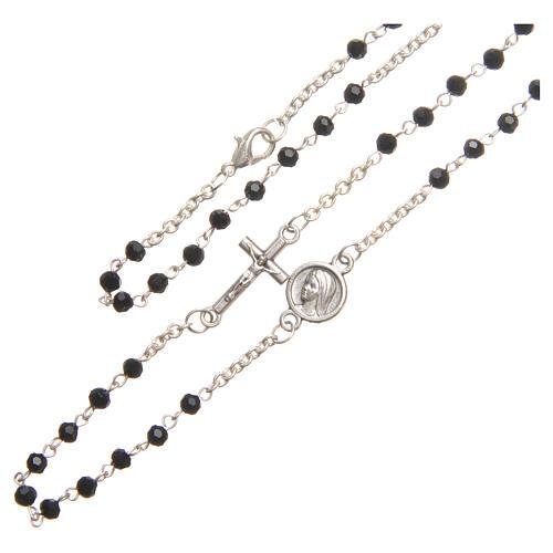 Collar acero cristal negro 3 mm Medjugorje 3