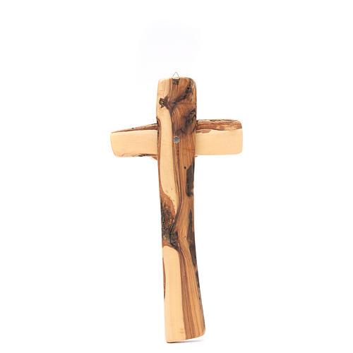 Crucifijo de pared madera olivo Medjugorje 3