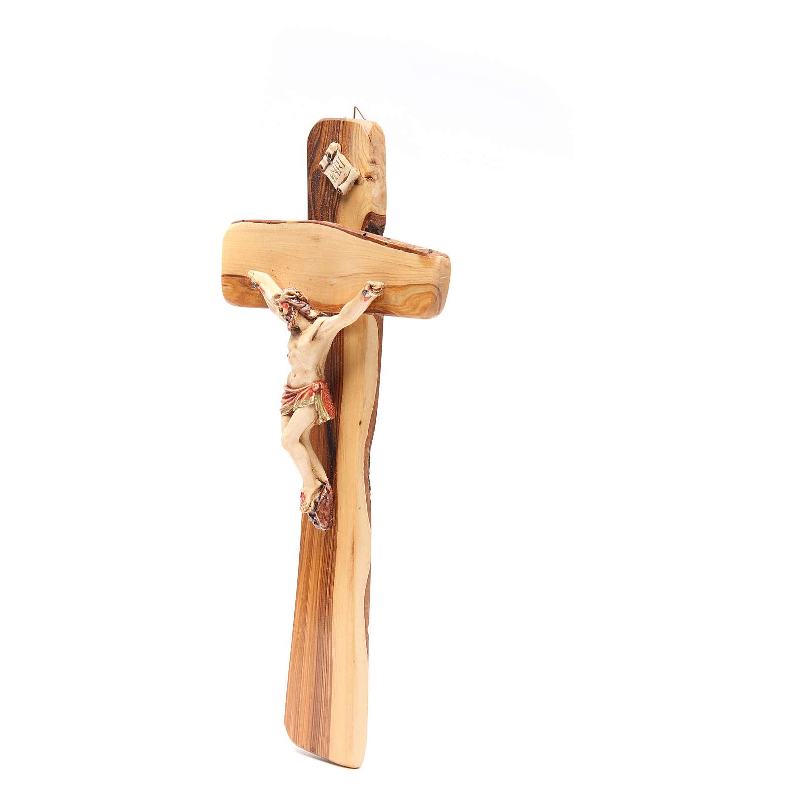 Crocifisso da parete legno ulivo Medjugorje 4
