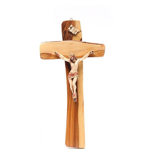 Crocifisso da parete legno ulivo Medjugorje 1