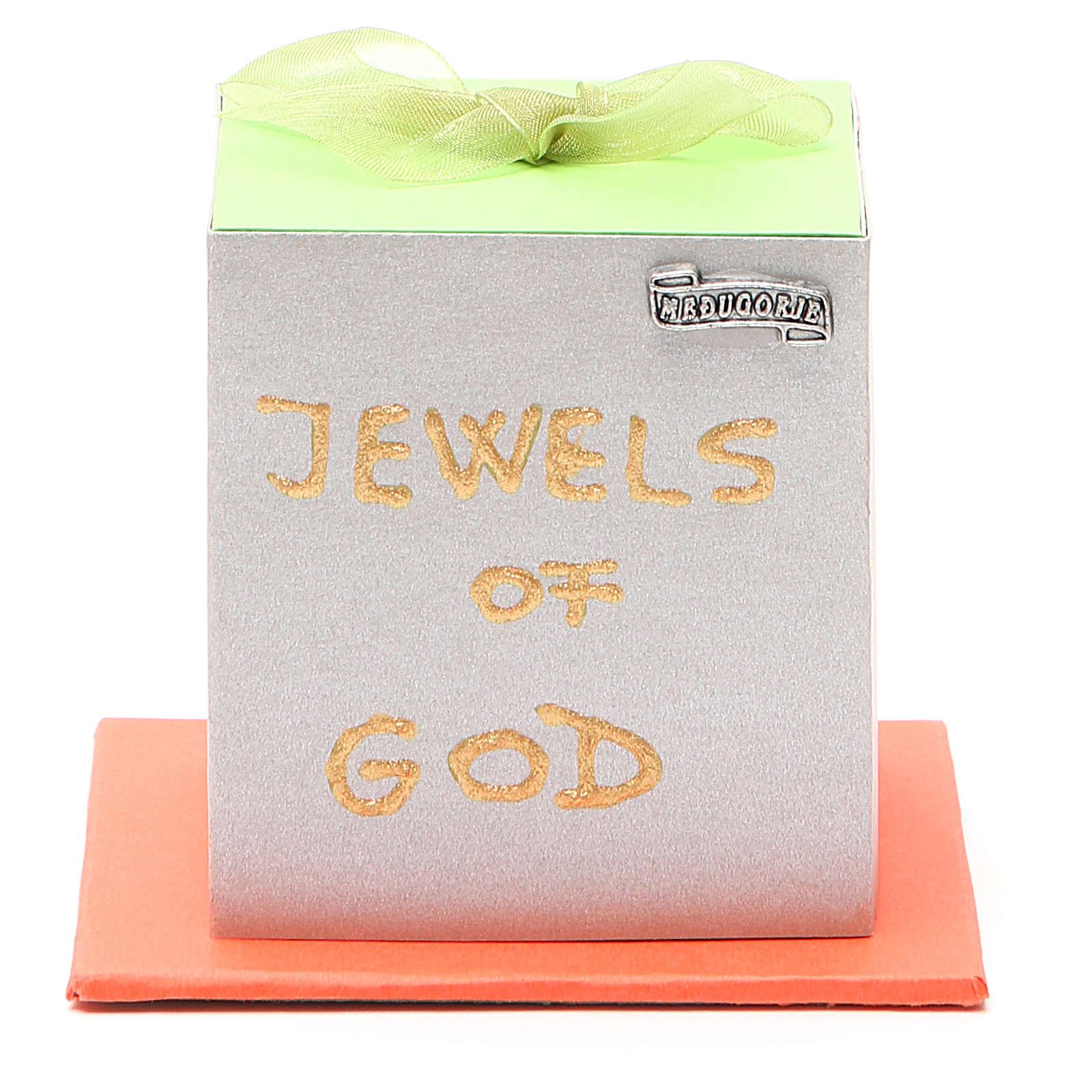 Carezze di Dio cofanetto fiocco verde Medjugorje (inglese) 4