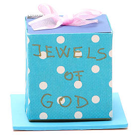 God's caresses box with pink ribbon, Medjugorje s1