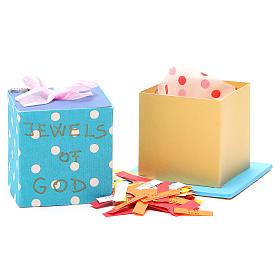 God's caresses box with pink ribbon, Medjugorje s3