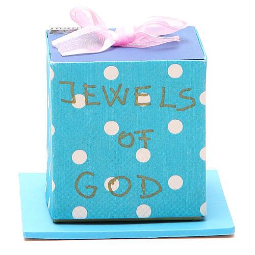 God's caresses box with pink ribbon, Medjugorje 1