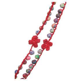 Rosario Medjugorje fimo e corda rossa s3