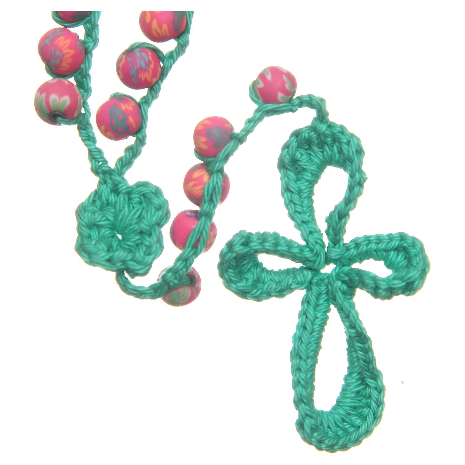 Rosario Medjugorje fimo e corda verde 4
