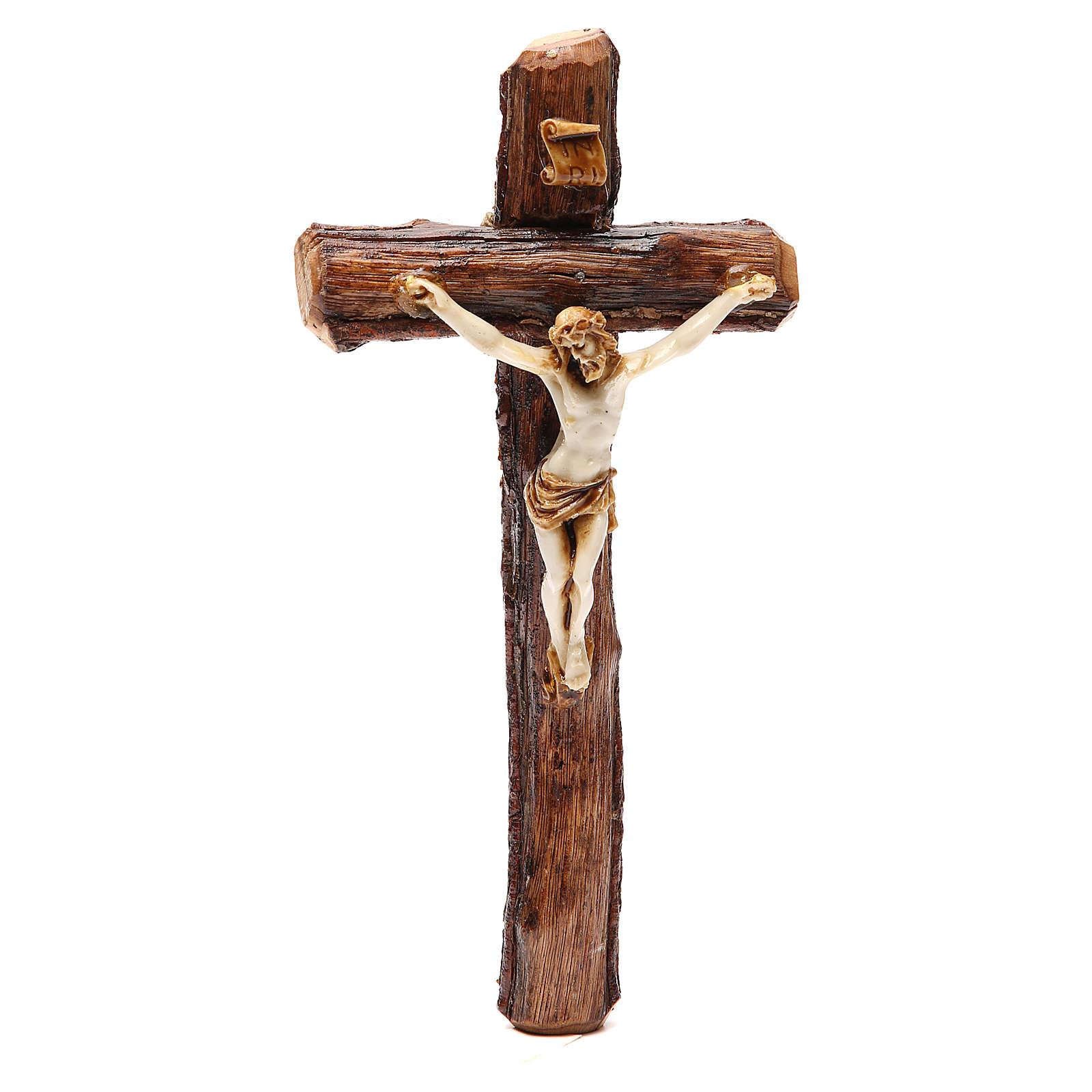 Crucifix bois de Medjugorje à suspendre 4