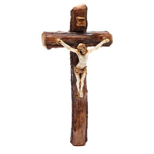 Crucifix bois de Medjugorje à suspendre 1